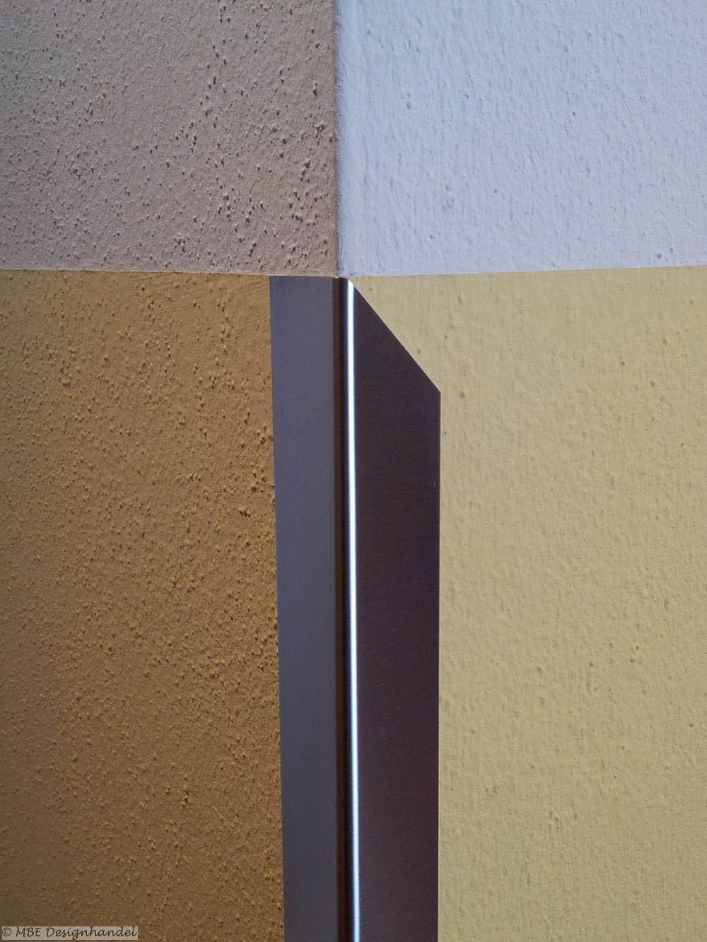 edelstahl kantenschutz - halbspitz rechts, 40x40x1000mm, 1mm stark