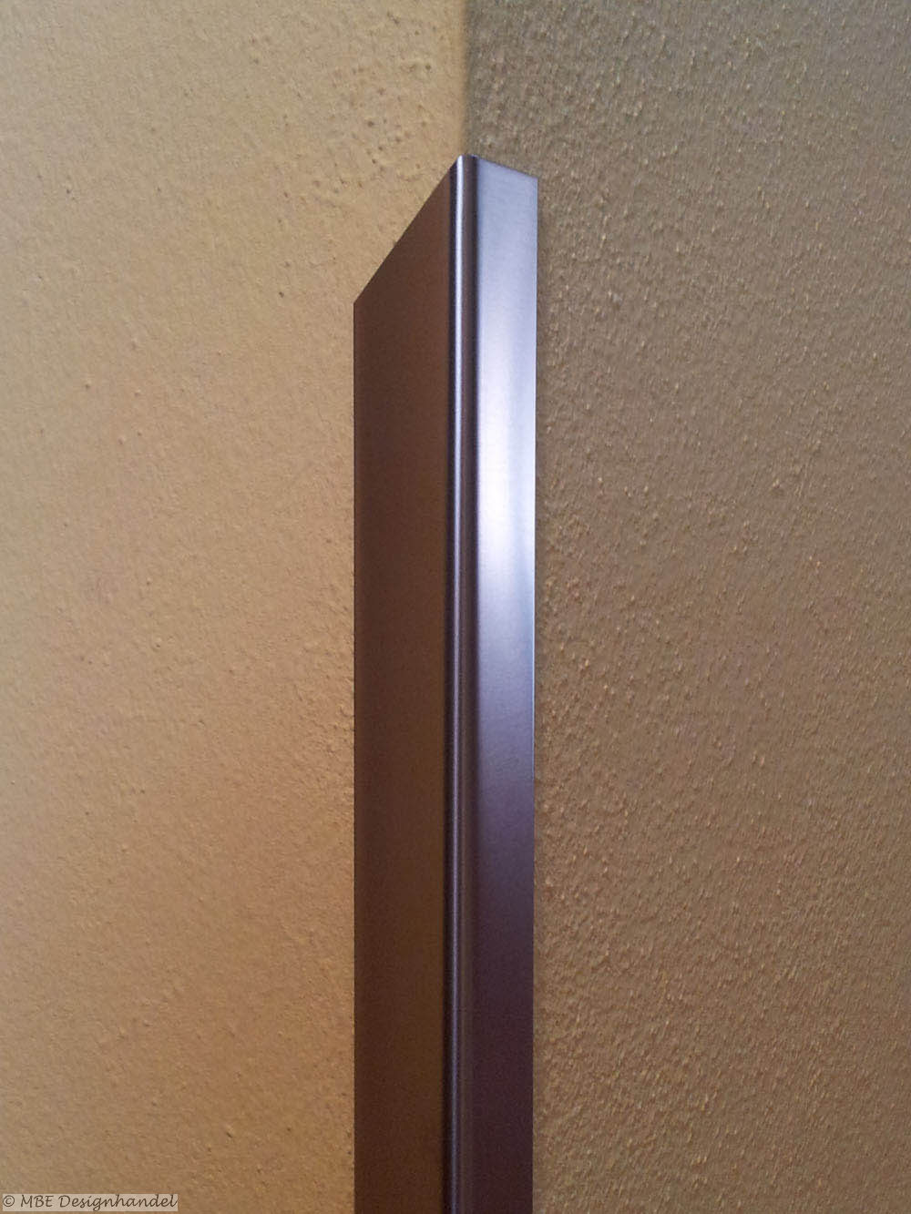 kantenschutz 60x60x1500mm, aus edelstahl 1mm gebürstet