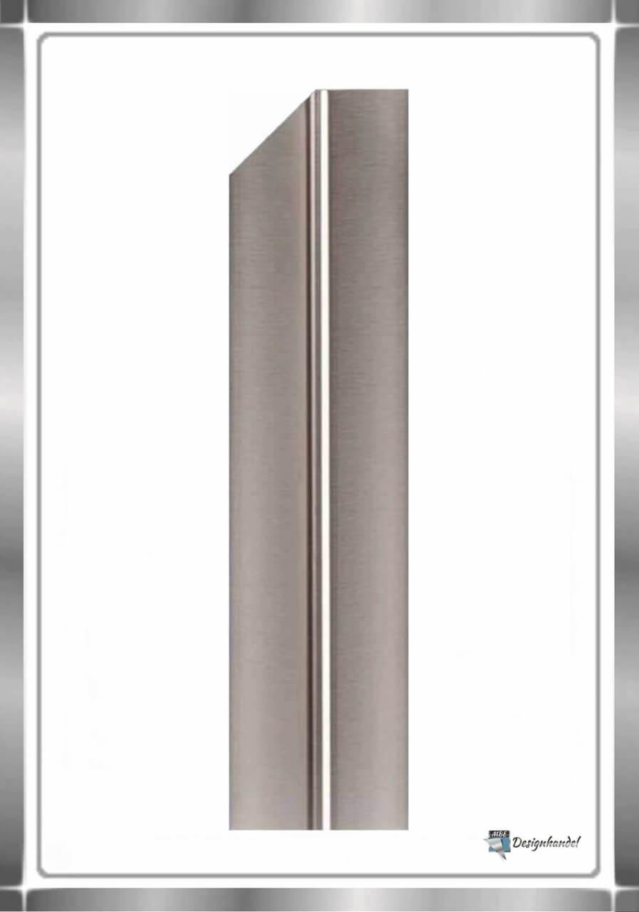 kantenschutz aus edelstahl 30x30x1000mm 1 0 mm stark halbspitze links. Black Bedroom Furniture Sets. Home Design Ideas