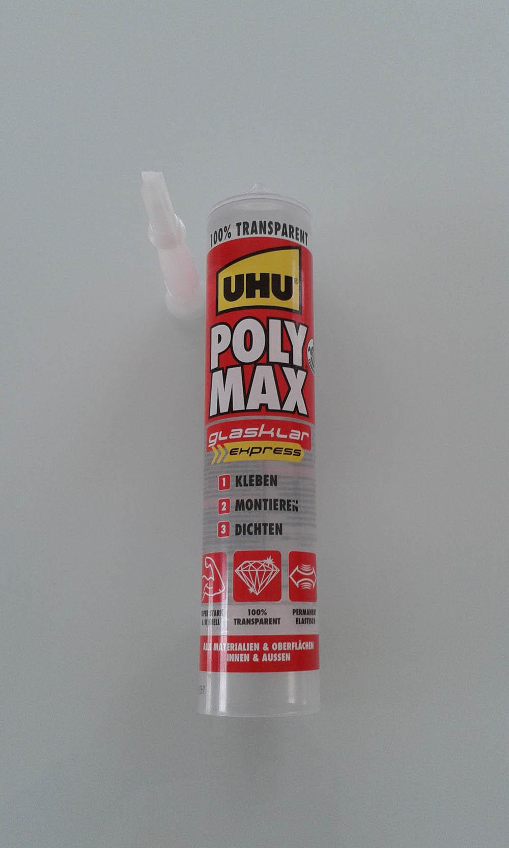Uhu Montagekleber Polymax Express Glasklar 300 G Kartusche